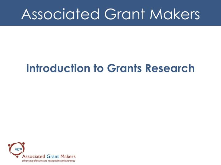introduction to grants research n.