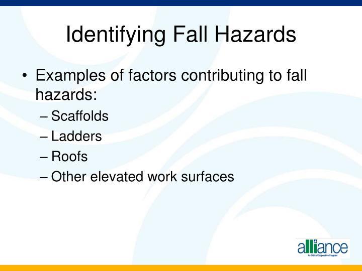 Identifying Fall Hazards