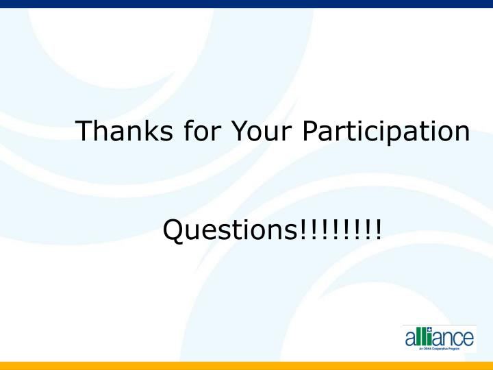 Thanks for Your Participation