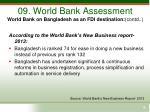 09 world bank assessment world bank on bangladesh as an fdi destination contd