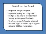 news from the board1