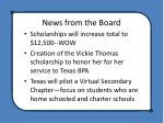 news from the board2