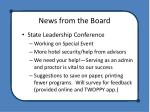 news from the board6