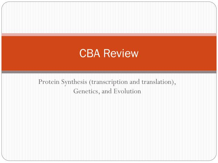 cba review n.