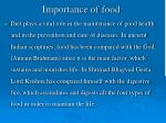 importance of food1