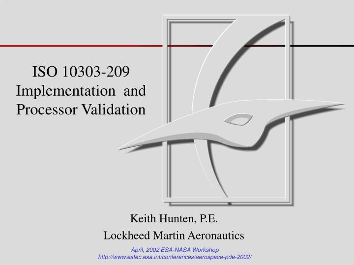 iso 10303 209 implementation and processor validation n.