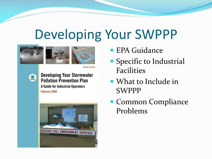 Developing Your SWPPP