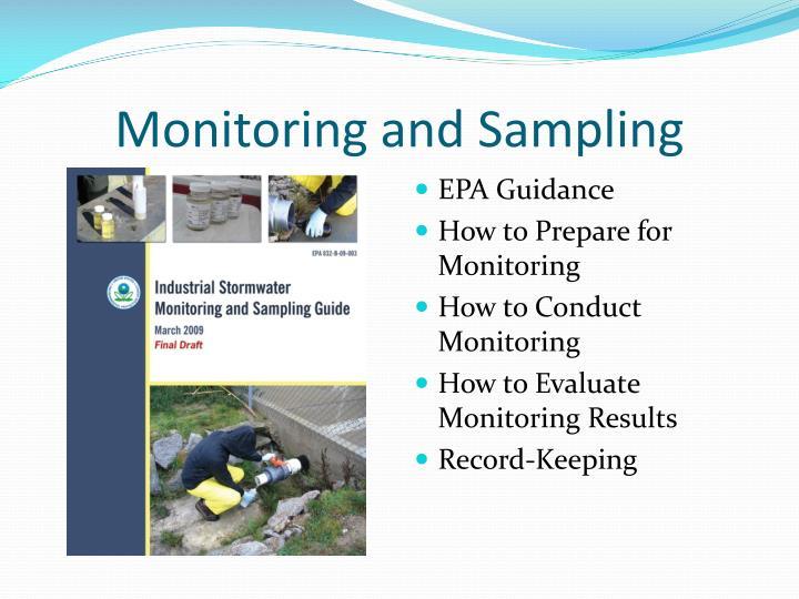Monitoring and Sampling