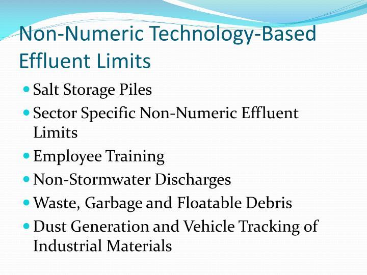 Non-Numeric Technology-Based Effluent Limits