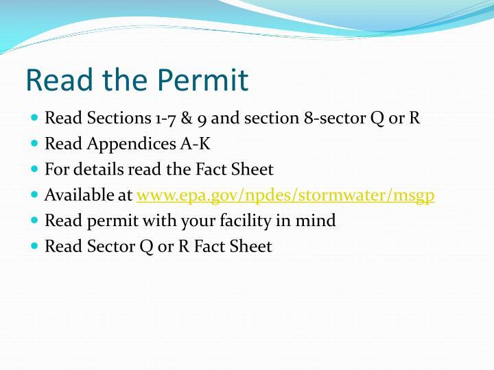 Read the Permit