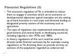 financial regulation 2