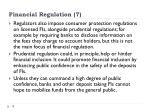 financial regulation 7
