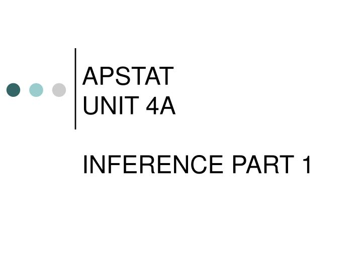 apstat unit 4a inference part 1 n.