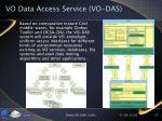 vo data access service vo das
