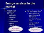 energy services in the market