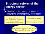 structural reform of the energy sector