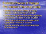potential places of refuge pre incident planning goals
