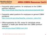 arra cobra resources cont d