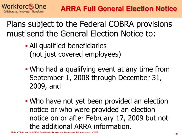 ARRA Full General Election Notice