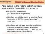 arra full general election notice