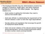 ebsa s mission statement