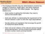 ebsa s mission statement