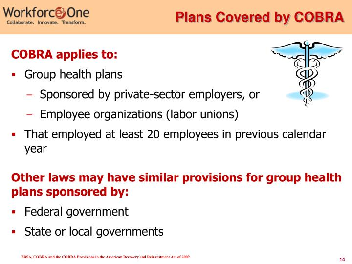 Plans Covered by COBRA