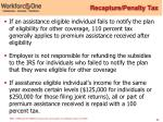 recapture penalty tax