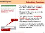 submitting questions