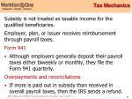 tax mechanics
