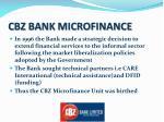 cbz bank microfinance