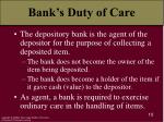 bank s duty of care
