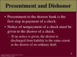 presentment and dishonor