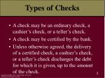 types of checks