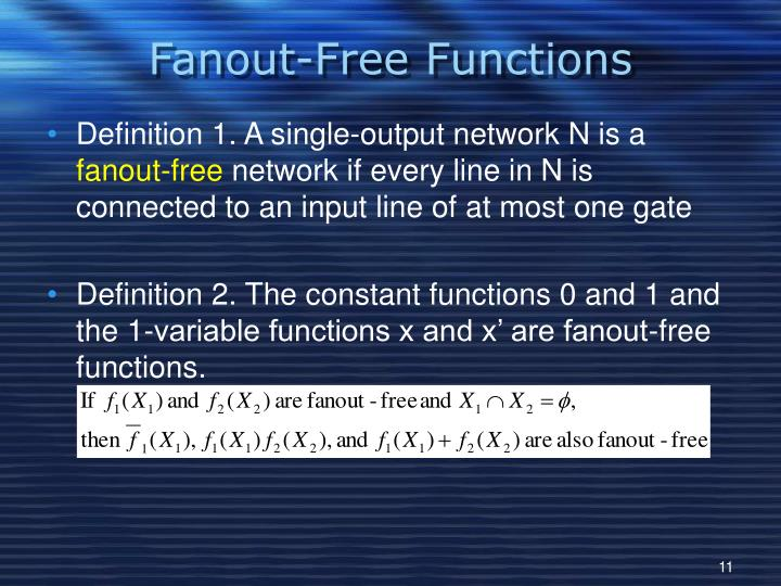 Fanout-Free Functions