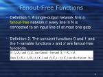 fanout free functions