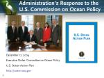 administration s response to the u s commission on ocean policy