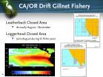 ca or drift gillnet fishery