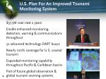 u s plan for an improved tsunami monitoring system