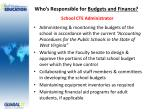 who s responsible for budgets and finance school cte administrator