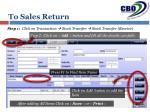 to sales return1