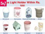 tea light holder within rs 500