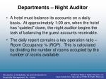 departments night auditor