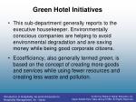 green hotel initiatives