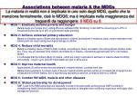 associations between malaria the mdgs