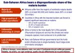 sub saharan africa bears a disproportionate share of the malaria burden