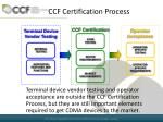 ccf certification process