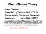 chern simons theory