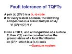 fault tolerance of tqfts