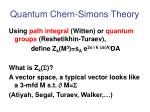quantum chern simons theory